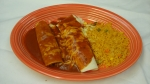 Special No. 3 - Bean burrito, cheese, enchilada and rice.
